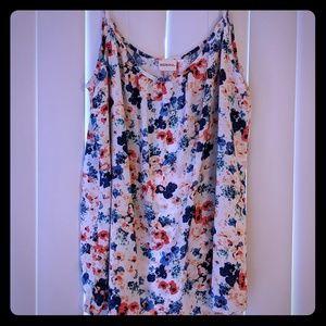 Merona Women's Floral Tank Top, Size L